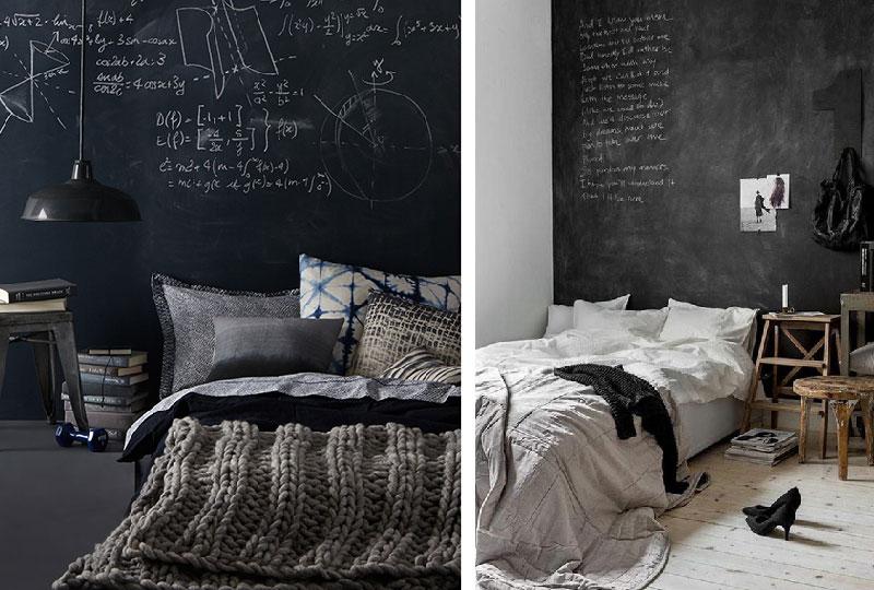 Testiera del letto o parete effetto lavagna?