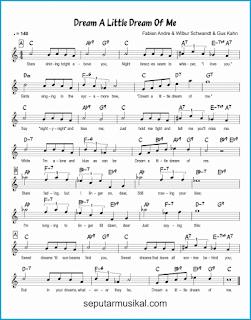 chord dream a little dream of me lagu jazz standar