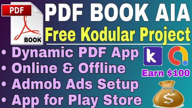 PDF book app AIA file kodular 2020
