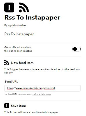 rss to instapaper setting