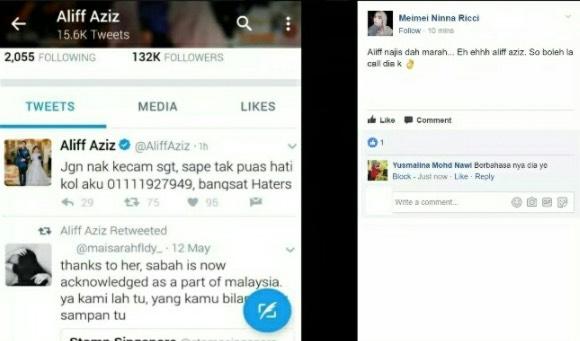 Aliff Aziz Ajak Peminat Bergaduh Gara-Gara Tak Tahan Dikecam