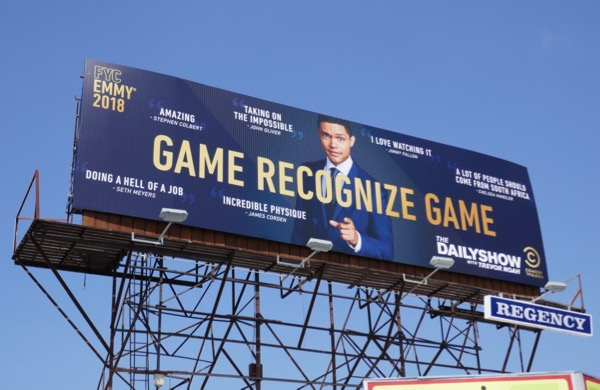 Trevor Noah Game recognize game Emmy FYC billboard