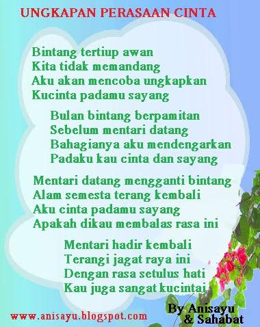 PUISI CINTA BY ANISAYU: Pantun Ungkapan Perasaan Cinta ...