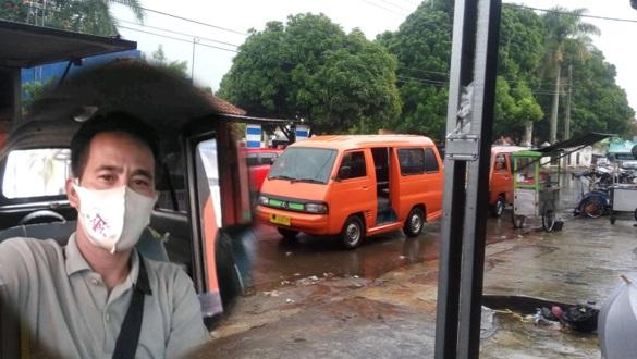 Sopir Angkutan Umum Singaparna Menjerit Dengan Adanya Perbaik Jln.Raya Singaparna