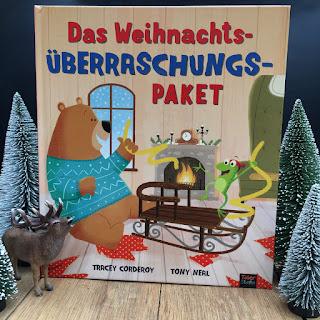 """""""Das Weihnachts-Überraschungspaket"""" von Tracey Corderoy, illustriert von Tony Neal, erschien bei Tigerstern im 360Grad-Verlag, ist ein 32-seitiges Weihnachtsbilderbuch für Kinder ab 3 Jahren"""