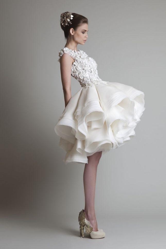 Edgy Short Wedding Dresses | bridal trend ideas