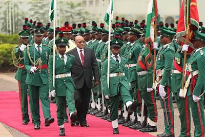 president jacob Zuma of south africa in Nigeria