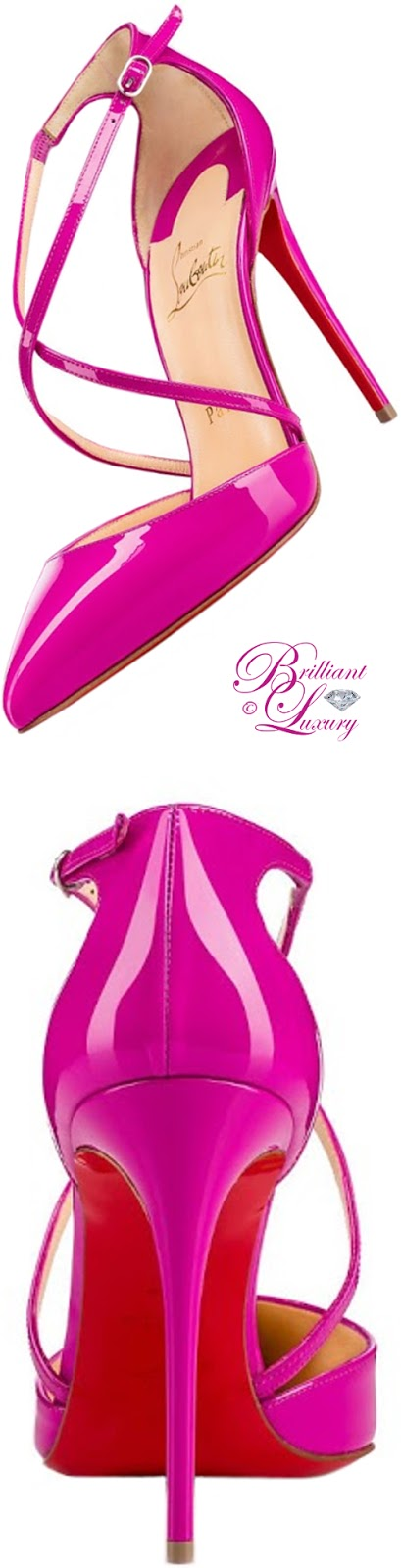 Brilliant Luxury ♦ Christian Louboutin Cross Blade sandal