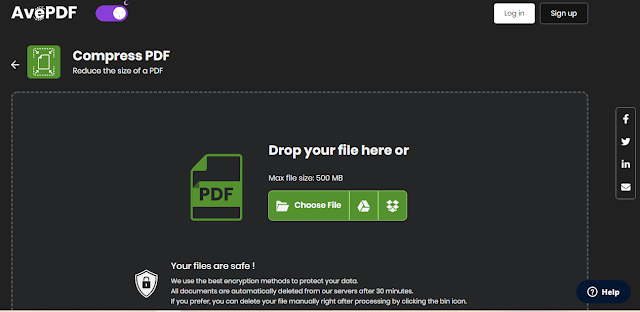 AvePDF Free Convert dan Kompres PDF