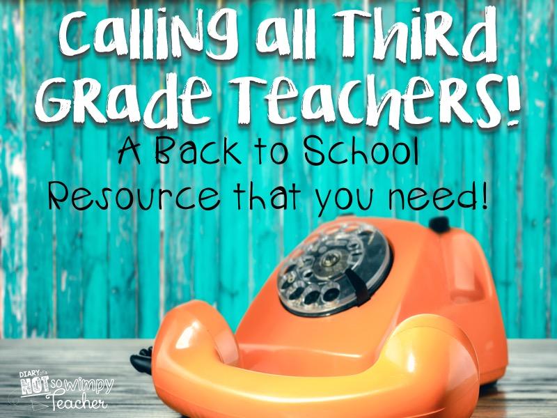 Diary Of A Not So Wimpy Teacher Calling All Third Grade Teachers A
