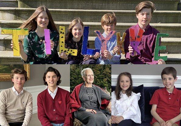 Prince Christian, Princess Isabella, Prince Vincent, Princess Josephine, Prince Nikolai, Prince Felix, Prince Henrik, Princess Athena