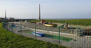 Crazy Golf course at Drift Park in Rhyl