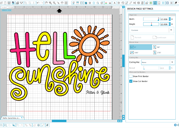 Free Hello Sunshine Cut File