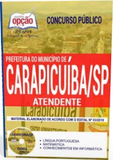 Apostila Atendente Prefeitura de Carapicuíba 2018