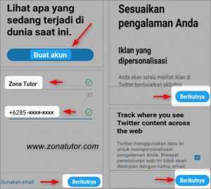 Cara Daftar Buat Akun Twitter Baru Lewat Hp Android