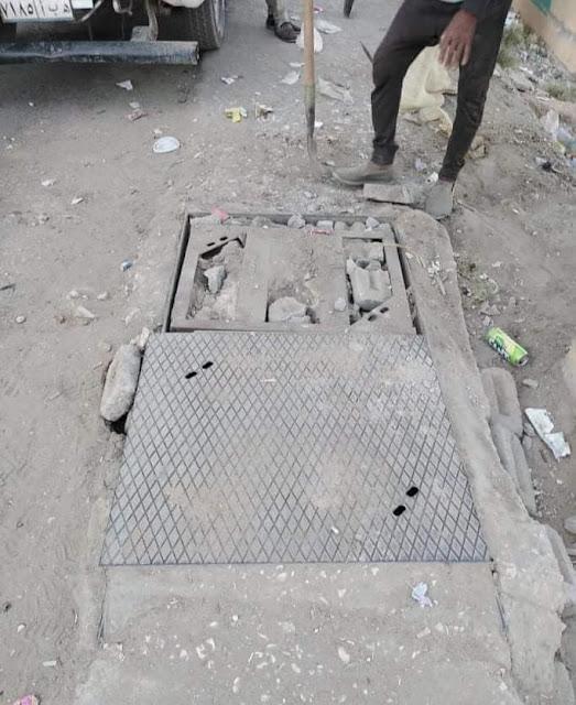 """استجابة لـ""""الخبر المصري"""" تغطية بلوعة أمام محطة المياه على كورنيش النيل بسوهاج"""