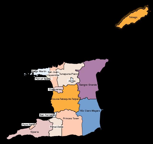 Pembagian wilayah administratif Trinidad dan Tobago
