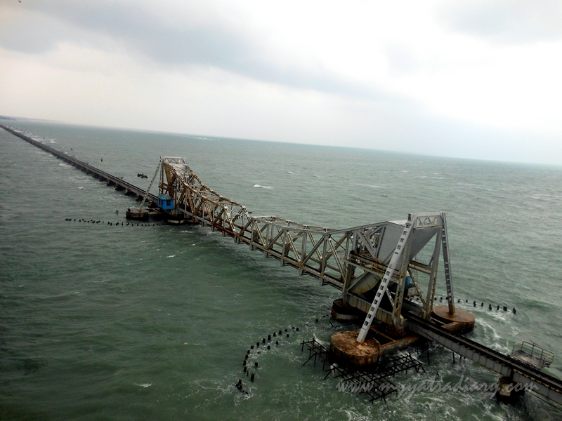 The first sea bridge and second longest in India - Panbam Bridge,  Rameshwaram