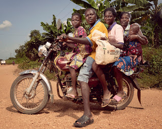 Motorcycle riding in Africa