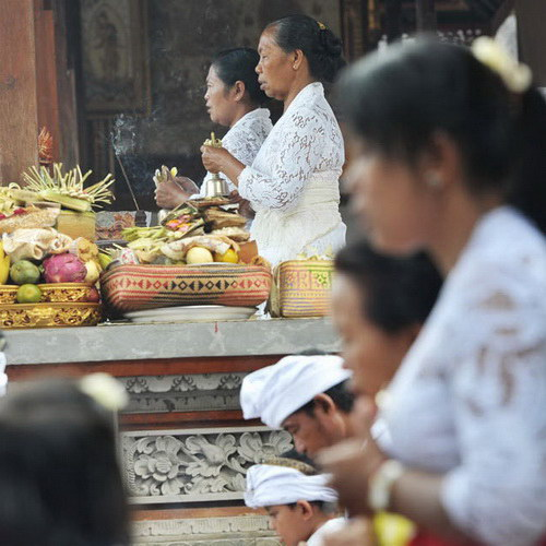 Tinuku Travel Galungan and Kuningan traditional Balinese holy day to celebrate victory of truth against badness