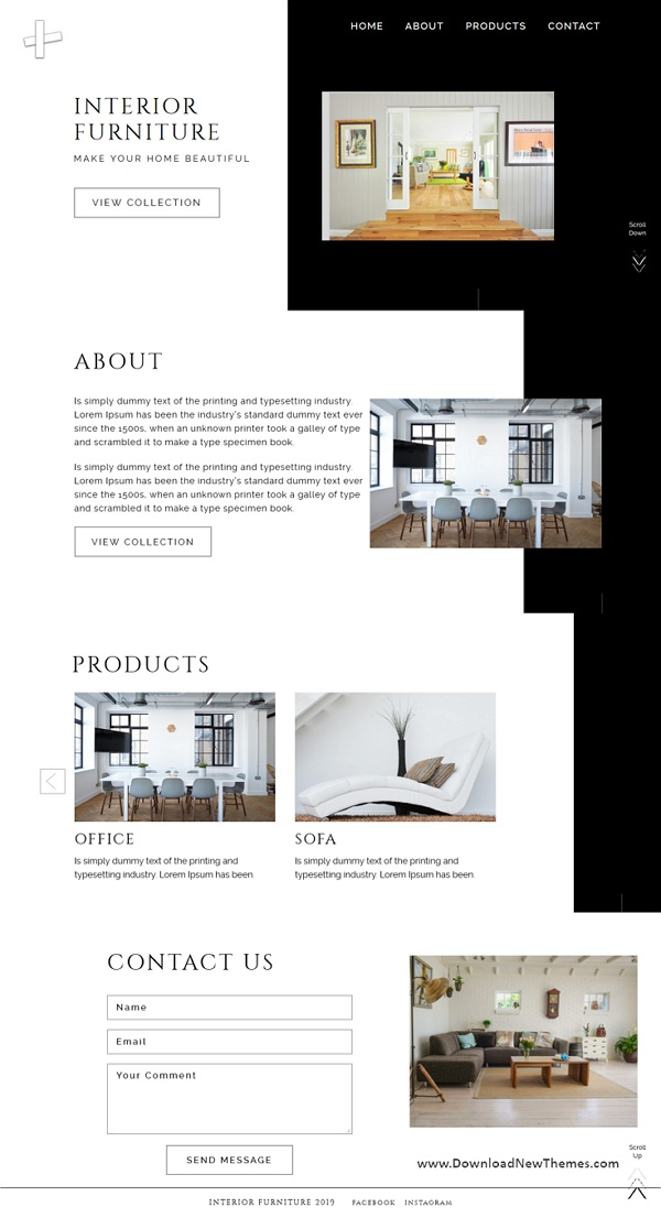 Interior Furniture Decor Website Templates