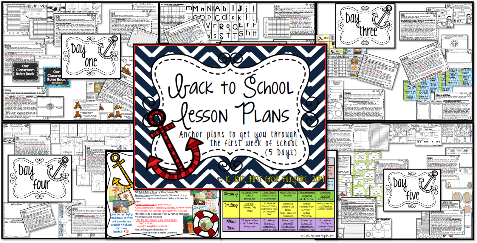 First Grade Fairytales Back To School Lesson Plans