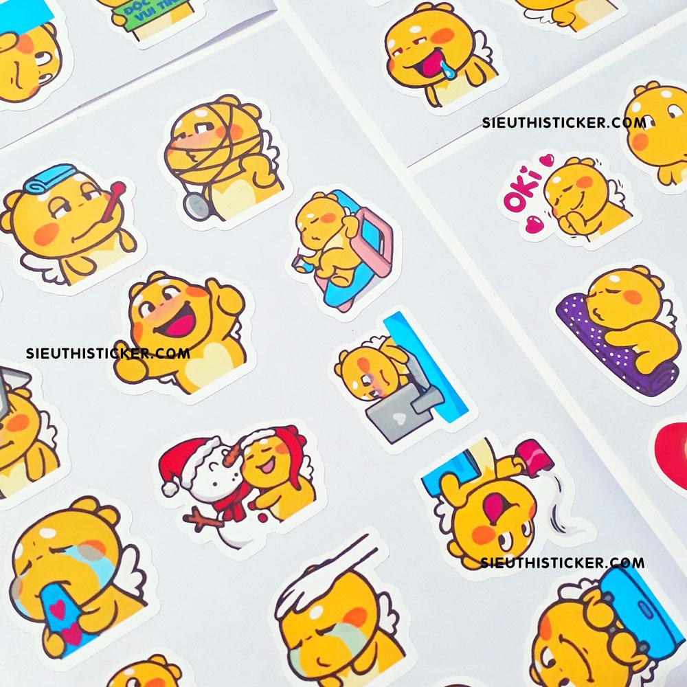 sticker giấy rồng vàng qoobee