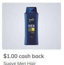 $1.00/1 Suave for Men shampoo or conditioner Ibotta cash back rebate *HERE*