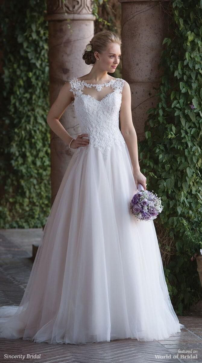 Sincerity Bridal Spring 2018 Tulle Ball Gown with Basque Waist