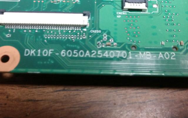 6050A2540701-MB-A02 U300 TOSHIBA C850 DK10F Laptop Bios