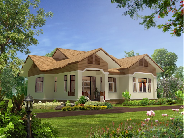 sơn nhà màu nâu nhạt