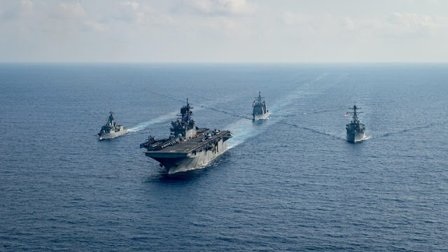 Wall Street: Iranian warships surrounded two American warships in the Gulf in early April