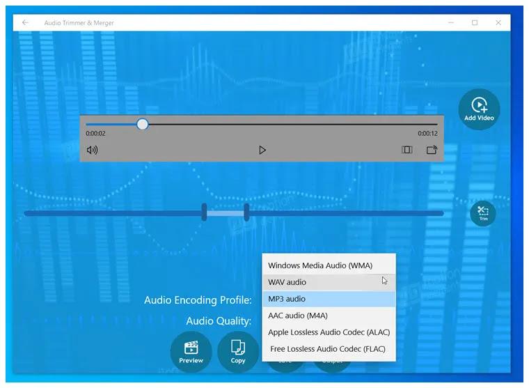 Audio Trimmer & Merger:  Περικόψτε και   συγχωνεύστε αρχεία ήχου