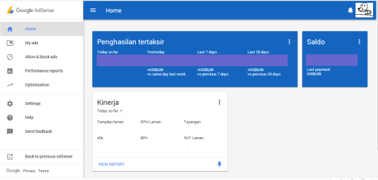 Tampilan Baru Pada Google Edsense