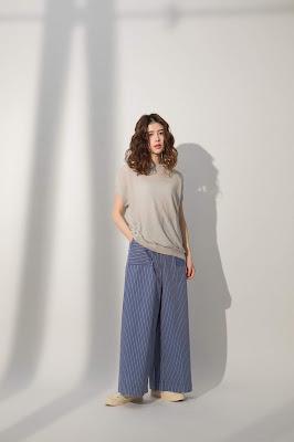藍月星河長腿寬寬褲模特兒實穿