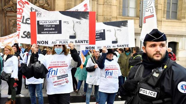 Enfermeras de Francia desafían al Gobierno con una huelga nacional