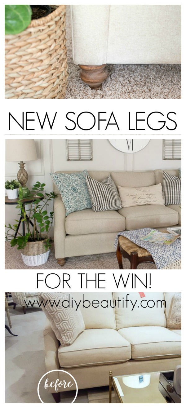 change sofa legs for a whole new look