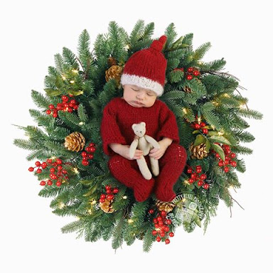 footed newborn romper onesie photography prop santa father christmas suit