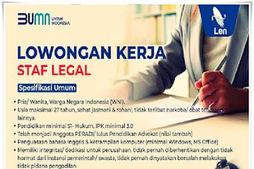 Lowongan Kerja Staf Legal LEN Industry