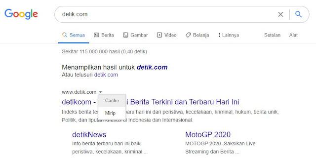 Cache_detik_com_pada_google_search_engine