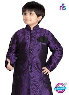 Purple Jacquard Sherwani, Maroon Art Dupion Sherwani