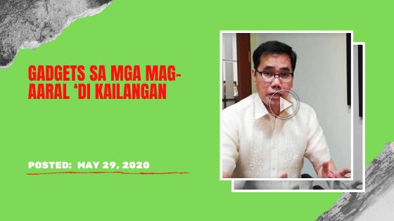 Gagawan umano nila ng paraan para maihatid ang naturang printed materials sa mga estudyante.