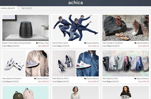 Giao diện web bán hàng giảm giá Achica