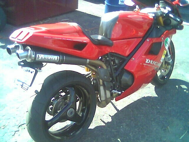 Ducati 916 just before I picked it up.