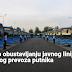 Obustavlja se javni linijski i vanlinijski prevoz putnika