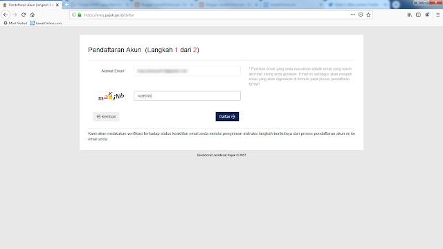 Daftar NPWP online di ereg.pajak.go.id