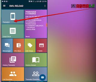 Cara Isi Pulsa Paket Nelpon Telkomsel 2100 Menit - Silahkan login ke aplikasi dan pilih menu transaksi