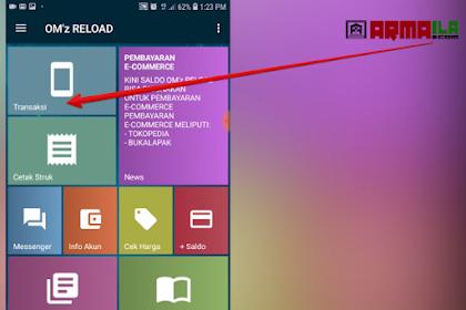 Cara Jual Pulsa Paket Nelpon Telkomsel 2100 Menit di Aplikasi Om'z Reload