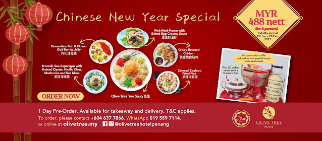 Olive Tree Hotel Chinese New Year 2021 Food Delivery with a Vintage Tiffin Set!