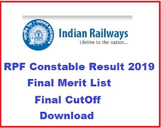 RPF Constable Result 2019